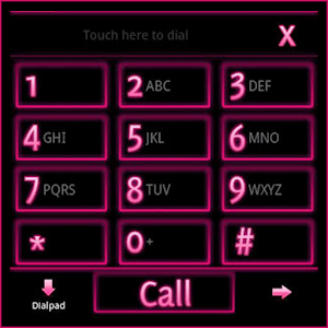 GO Contacts EX Theme Pink Neon icon