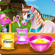 Pony Cooking Rainbow Cake icon