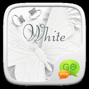 (FREE) GO SMS WHITE THEME icon