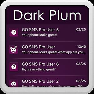Dark Plum for GO SMS icon