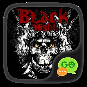 (FREE) GOSMS BLACK NIGHT THEME icon