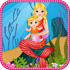 Mermaid baby birth icon