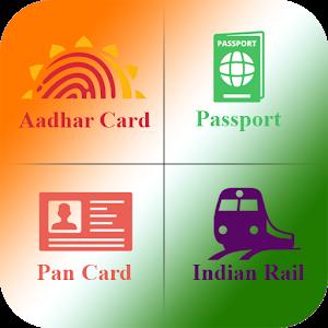 Aadhar Pan PNR Passport Voter icon