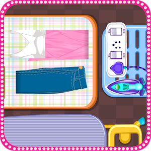 Ironing clothes girls games icon