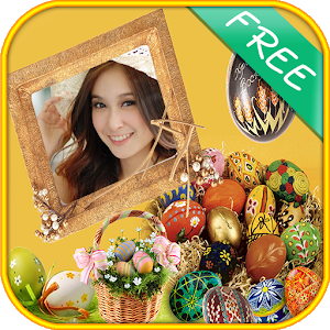 Beautiful bunny easter frames icon