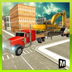Heavy Machine Transport Truck icon