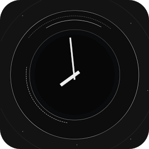 Black Orbit Clock icon
