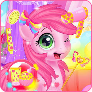 Baby pony grooming makeover icon