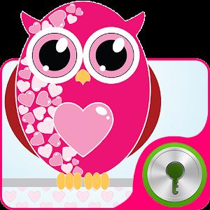 Hearts Owls - GO Locker Theme icon