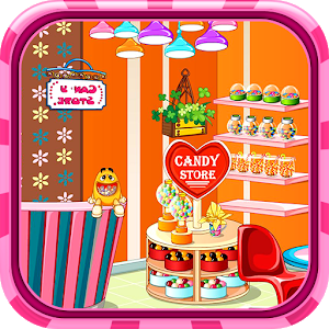 Candy store decoration icon