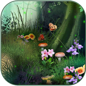 Fireflies in the fairy forest icon