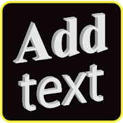 Add text on photo -3D text on phonto icon