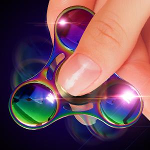 Fidget finger spinner sim icon