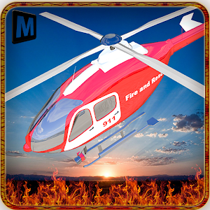 Fire Fighter Helicopter Rescue icon