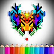 ColoRelax Futuristic Mandalas Coloring Book 2018 icon