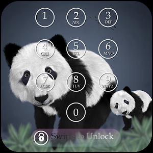 Panda Keypad Lock Screen Skin icon