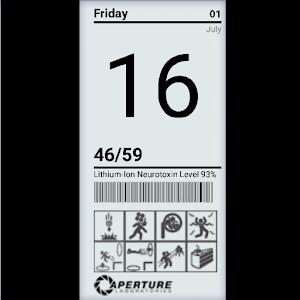 Aperture Science Clock Widget icon