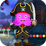 Best Escape Game 406 - Pirate Octopus Rescue Game icon