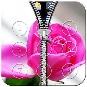 Pink Rose Zipper Lock icon