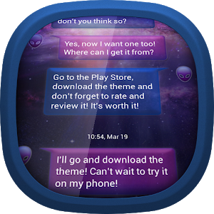 Galaxy for GO SMS icon