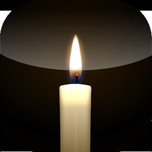 Virtual candle light icon