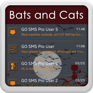 Bats and Cats for GO SMS icon