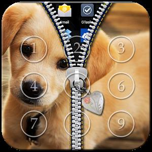 Cute Puppy Zipper Lock icon