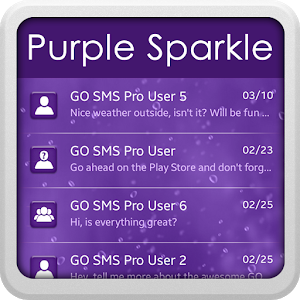 Purple Sparkle for GO SMS icon