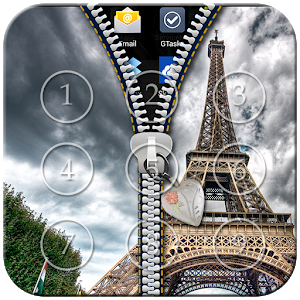 Paris Zipper Lock icon