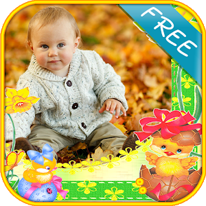 baby frames photo montage icon
