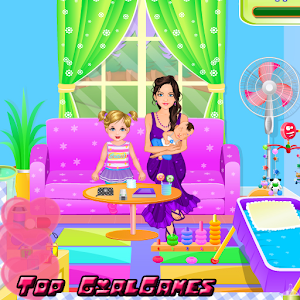 Baby sibling trouble for kids icon