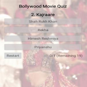 Bollywood movies quiz trivia icon