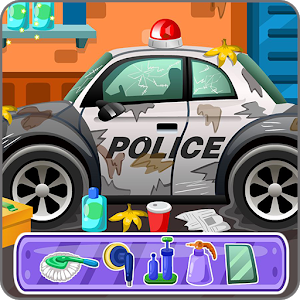 Clean up police car icon