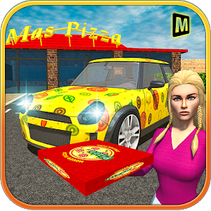 Classic Car Pizza Delivery icon