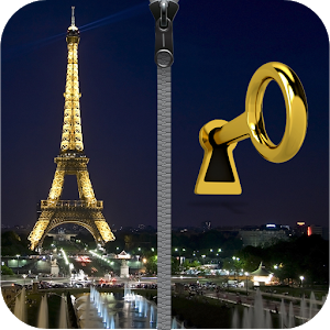 Paris Zipper Phone Lock icon