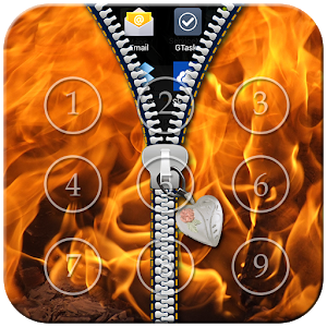 Fire Zipper Lock icon