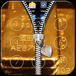Gold Zipper Lock icon