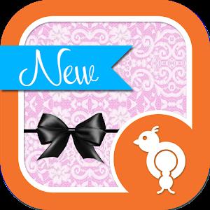 White Lace Theme GO SMS icon