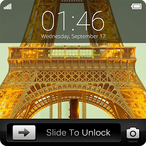 Paris Slide to Unlock icon
