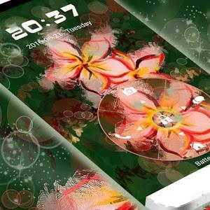 Locking Phone Asian Flowers icon