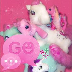 Theme Pink Pony GO SMS PRO icon