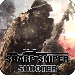 Sharp sniper shooter icon