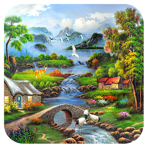 Landscape Oil Painting Jigsaw icon