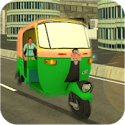 Modern Rickshaw Drive-City Tuk Tuk Rickshaw game icon