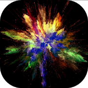 Video live wallpaper - colorful explosion icon