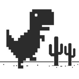 Steve Jumping A Widget Game With Dinosaur 8 Bit On Risky Road Apprecs