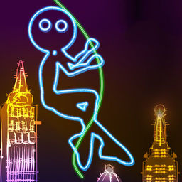 Neon City Swing Ing Super Fly Glow Ing Rag Doll With A Rope Apprecs