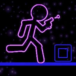 Glow Stick Man Run Neon Laser Gun Man Runner Race Game For Free Apprecs