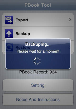 Restore data from itunes backup